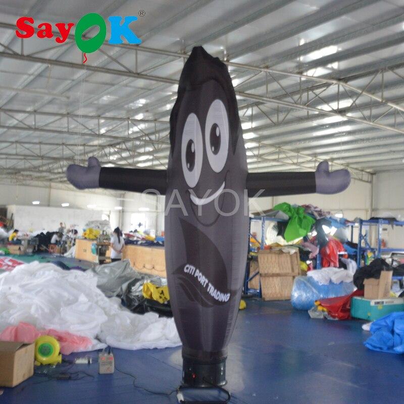 Dançarino inflável personalizado do céu do tubo de ar da propaganda do dançarino do ar com ventilador para a decoração