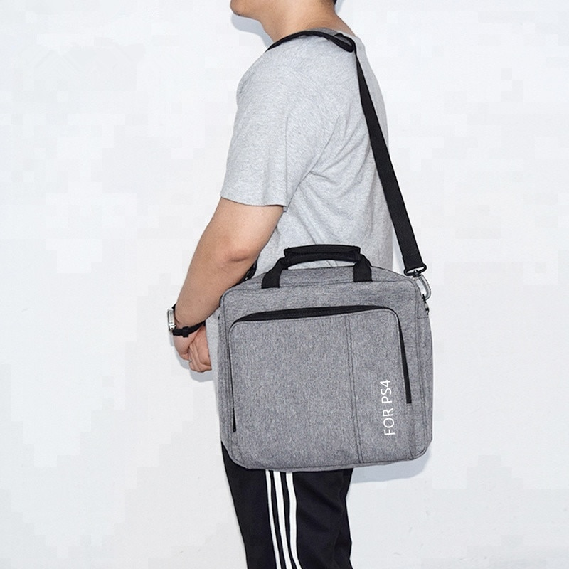 Купить с кэшбэком Yoteen Massenger Bag for PS4 /Slim /Pro Bag Protective Shoudler Travel Storage Bag for Sony Console PS4 Playstation4 Accessories