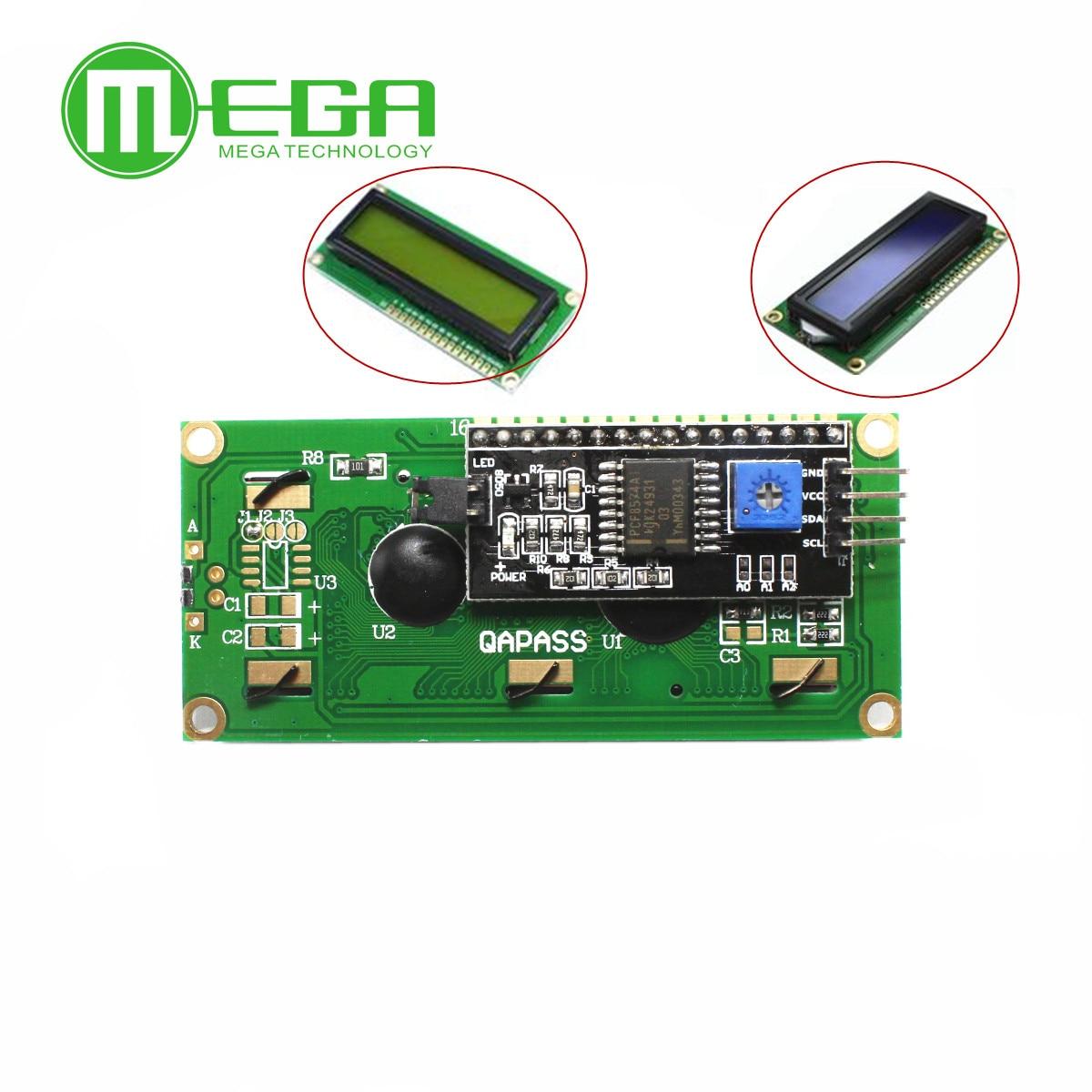 1 Набор IIC/I2C + LCD 1602 Синяя подсветка ЖК-д�