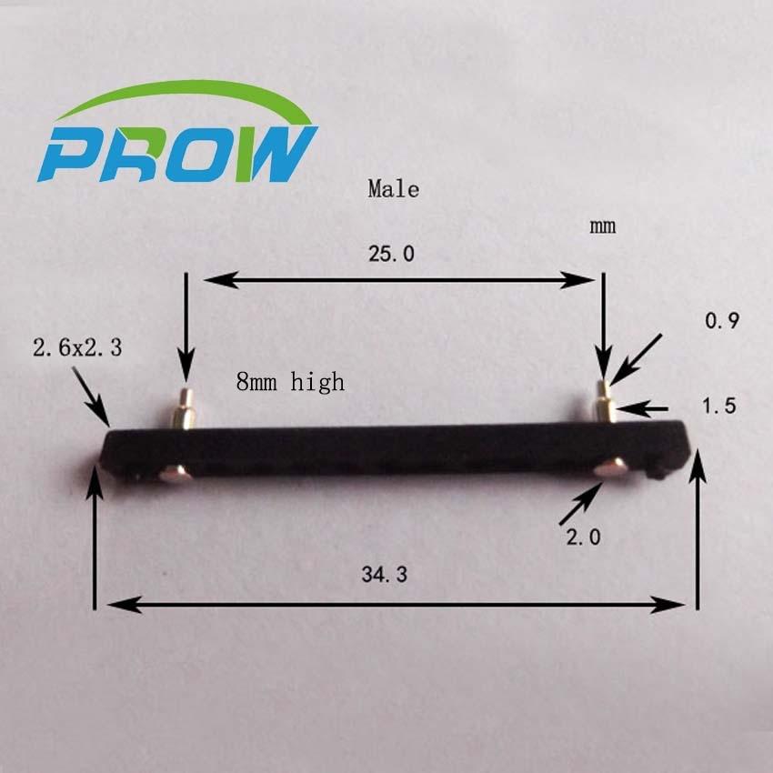 [PR] PG2.0-2P-25PH-8H كبيرة تباعد 2pin 2P موصل بوجو دبوس الذهب مطلي الاتصال الربيع إبرة إبرة الذكور