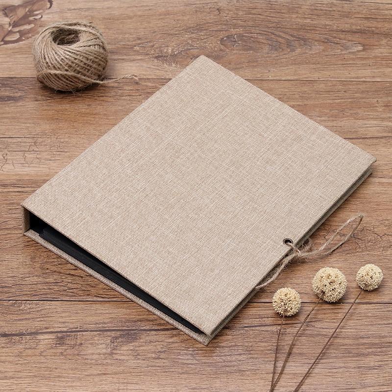 10Inch Wedding/Baby/DIY Photo Album Scrapbook Linen Cover 30 Pages Scrapbook Album Handmade Picture Album For Photos Sticky Type