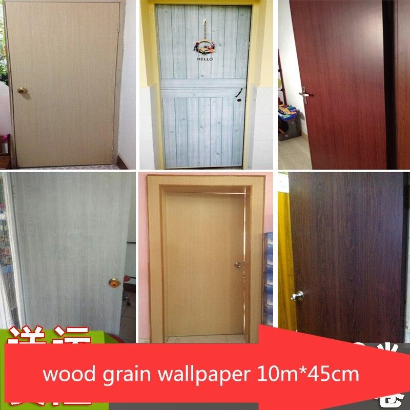 ПВХ Самоклеящиеся обои старый дом двери таблицы шкаф двери шкаф мебель Восстановленное спальня общежития деревянная зерновая наклейка