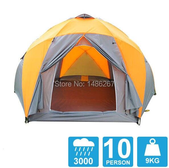 8-10 Person hohe Qualität winddicht Wasserdicht Freien 3000mm Hex Zelt langlebig Familie Camping Getriebe Party Festzelt
