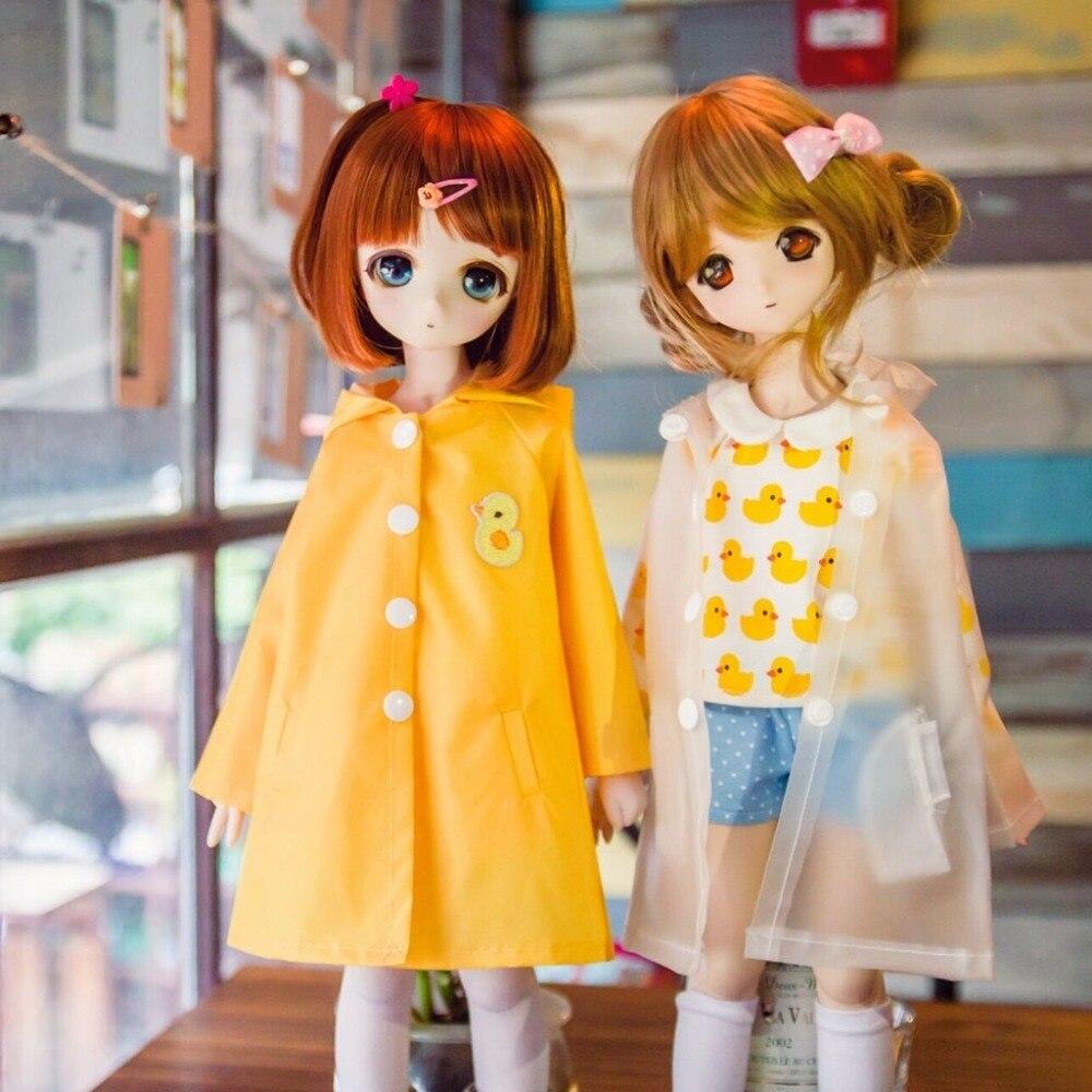 [Wamami] moda impermeável pouco pato amarelo transparente e capa de chuva apertado 1/4 msd 1/3 1/6 sd dz aod bjd dollfie