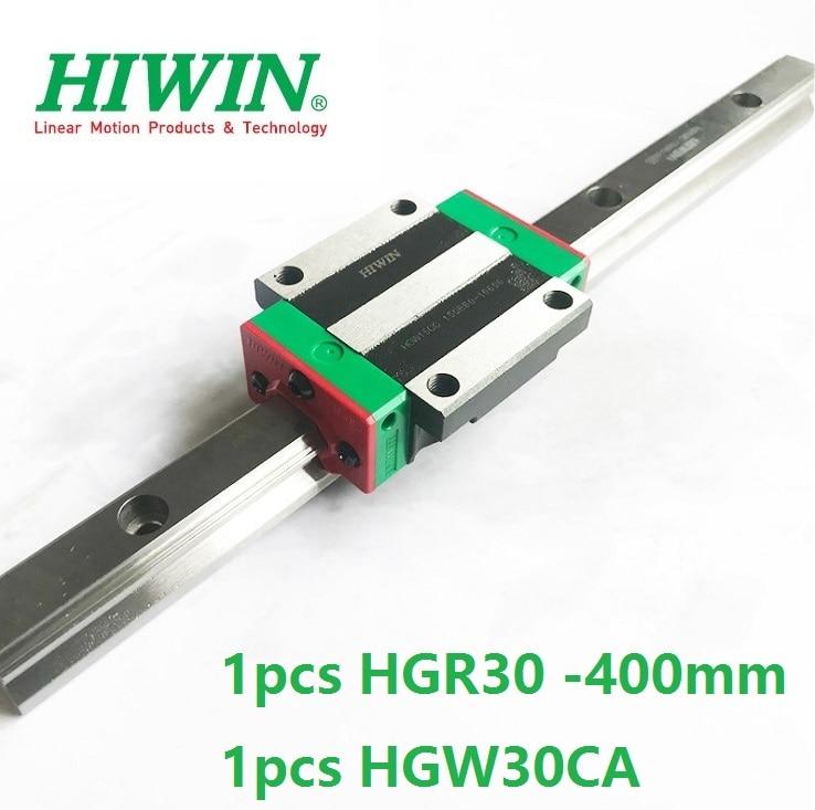 1pcs 100% original Hiwin linear rail guide HGR30 -L 400mm + 1pcs HGW30CA HGW30CC flange block for cnc