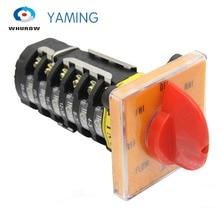 YMW28-20/6 Fräsen Maschine schalter 20A 6 pole 8 position control motor geschwindigkeit umstellung rotary cam schalter T-16EXF64D-6