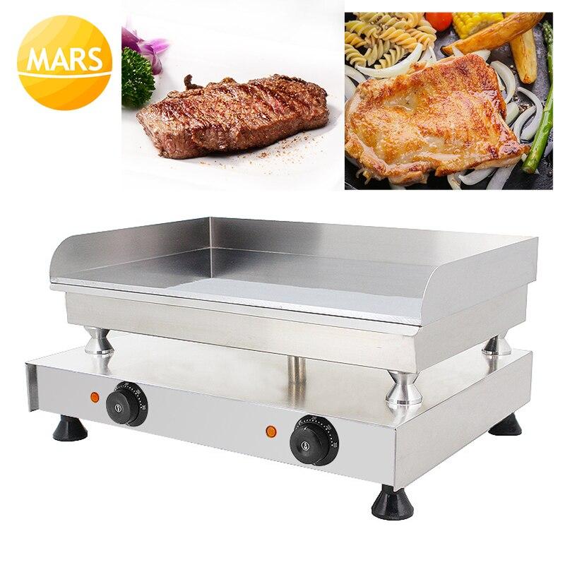 2018 nouvelle Machine commerciale de presse de Panini/gril de Panini/fabricant électrique de Sandwich plat rainuré gril électrique casseroles frites