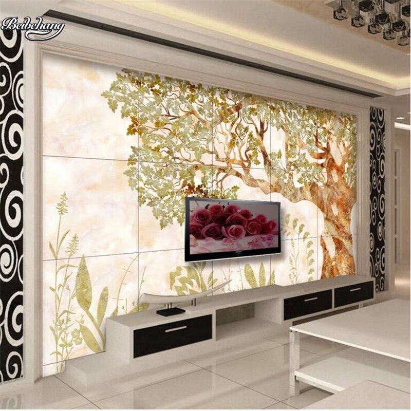Beibehang árboles abstractos flores arte en porcelana TV Fondo pared CENIT personalizado...