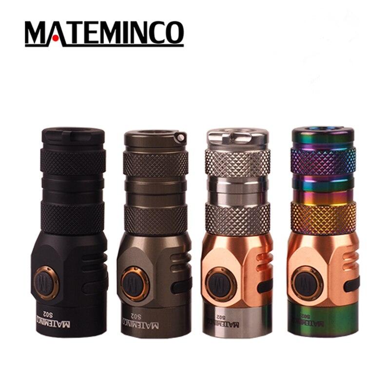 Linterna de acero inoxidable MATEMINCO S02 CREE XPG3/2 NICHIA 219C max. 1630LM, linterna de exterior para uso diario, autodefensa