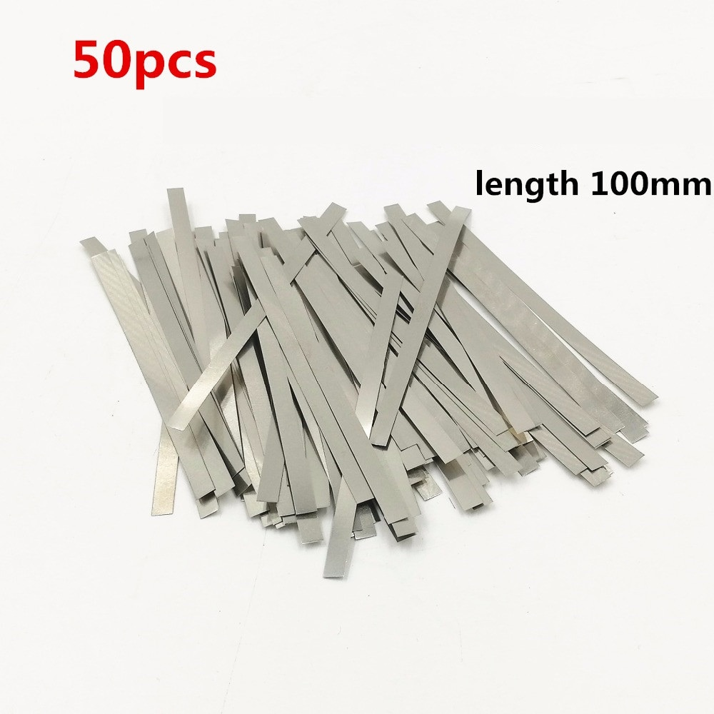 50pcs Nickel plated steel strip Nickel Plate Strap Strip Sheets for battery spot welding machine Spot welder Welder Equipment