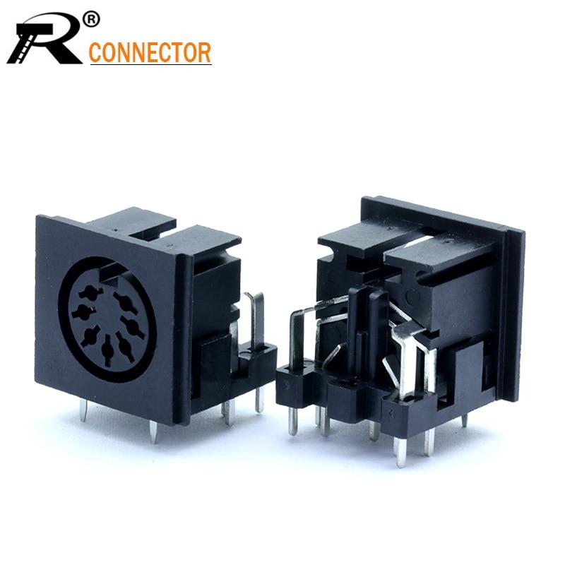 3 uds S terminales Micro alimentador hembra 7PIN DIN Jack Conector de vídeo PCB Panel de montaje hembra Conector