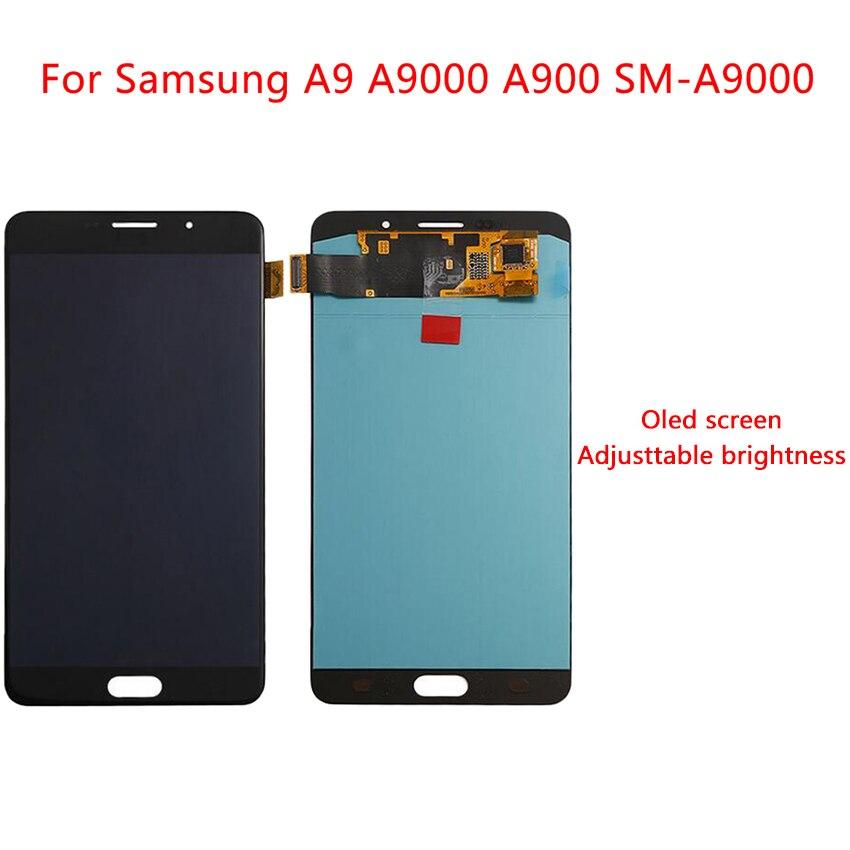Pantalla AMOLED de 6,0 pulgadas para Samsung Galaxy A9, pantalla LCD táctil A900F A9000, montaje de digitalizador, pantalla de repuesto