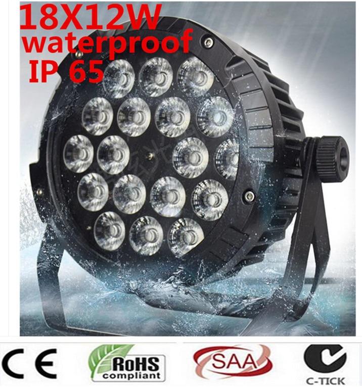 18X12 W IP65 impermeable llevó Luces Par control DMX512 RGBW 4in1 LED...