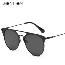 LeonLion 2021 Top Brand Designer Sunglasses Vintage Alloy Glasses Women Metal Luxury Candies Lens La