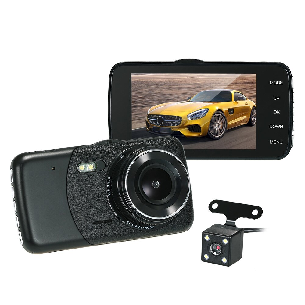 Cámara de salpicadero DVR para coche de 3,6 pulgadas cámara para vehículo ubicación visión nocturna Dashcam registrador para ford focus 2 mazda 6 vw t5