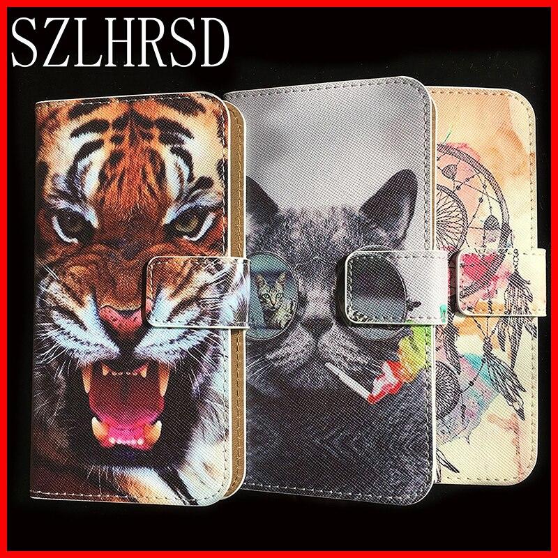 Para prestigio graça z5 case protetora de moda de luxo estilo carteira de couro flip case capa do telefone para psp 5530 duo