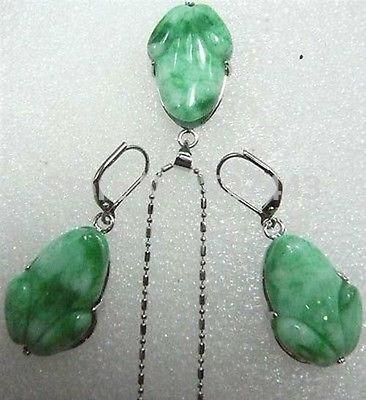 Natural palavra fina presente feminino quartzo pedra gem verde jóia sapo pingente colar brincos conjunto novo-jóias brincos de casamento