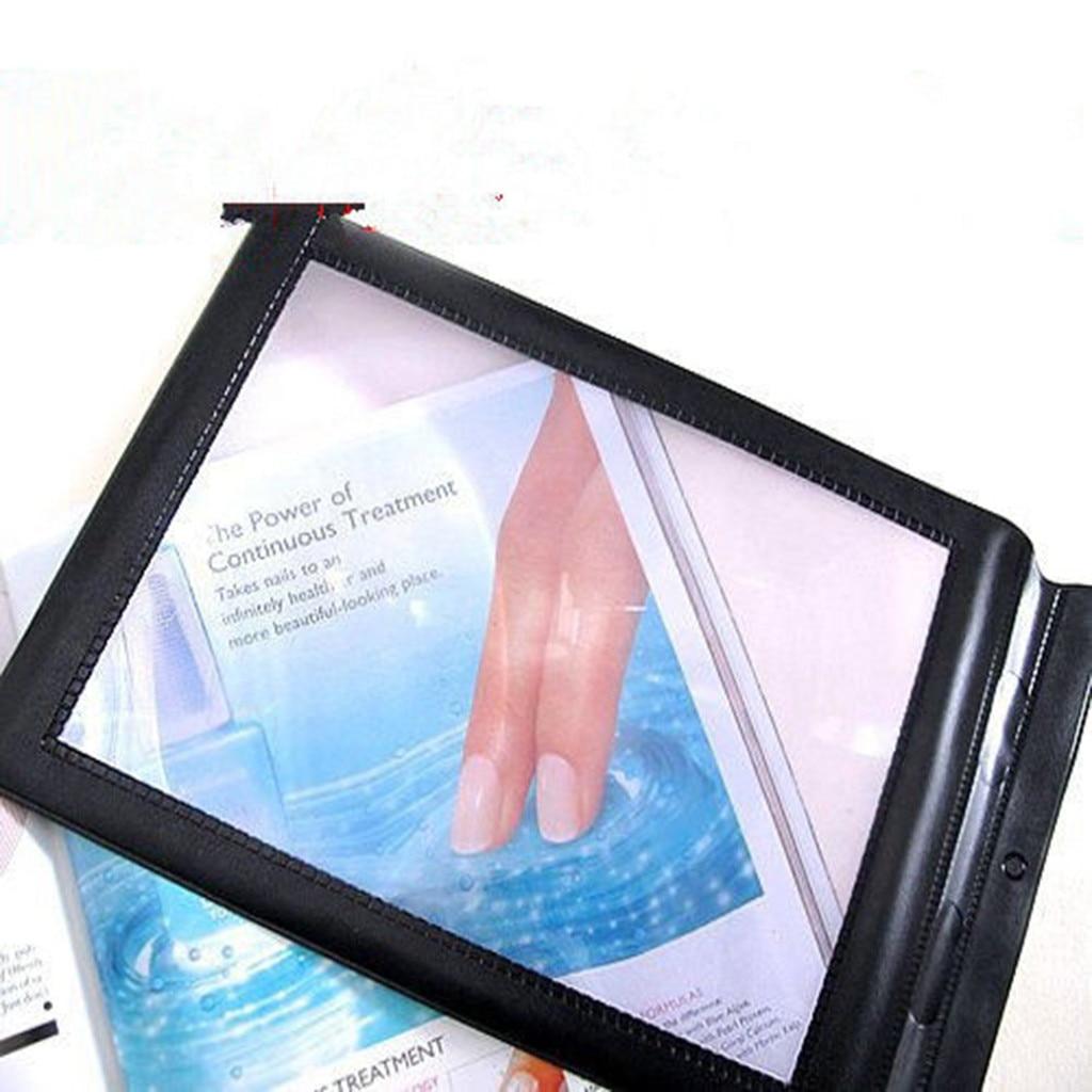 Ishowtienda 30x19,5 см A4 полная страница большой листовая лупа увеличительное Стекло чтения помощи объектив с линзой Френеля с регулируемой яркостью новые и высокое качество # y30