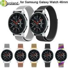 2 pc/lot 22MM bracelet de montre en acier inoxydable pour Samsung Galaxy Watch 46MM bracelet milanais bracelet de montre intelligent bracelet aimant fermeture