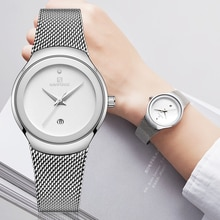 Femmes montres NAVIFORCE Top marque de luxe femme mode analogique Quartz montre dames Simple Ultra-mince argent blanc montre-bracelet