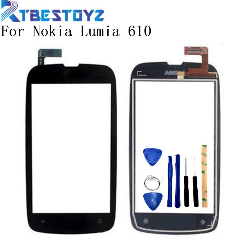 RTBESTOYZ-Digitalizador de pantalla táctil para Nokia Lumia 610 N610, pantalla táctil frontal