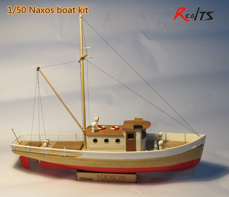 RealTS Scale 1/50 classics sail boat model the NAXOS fishing-boat wooden model kit