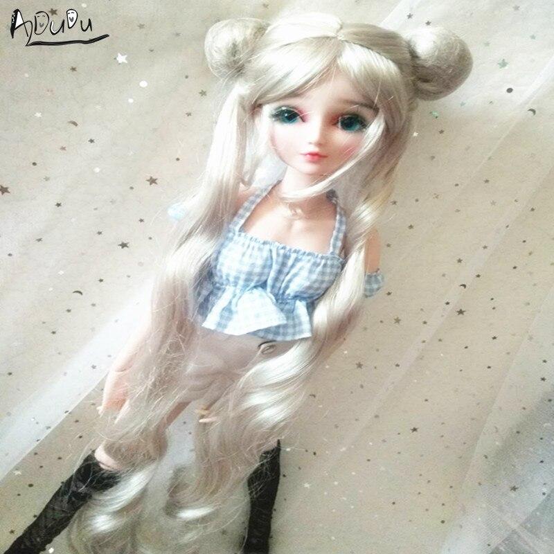 9-10 дюймов BJD кукла, двойной конский серебристый цвет, матросский лунный парик-pullip