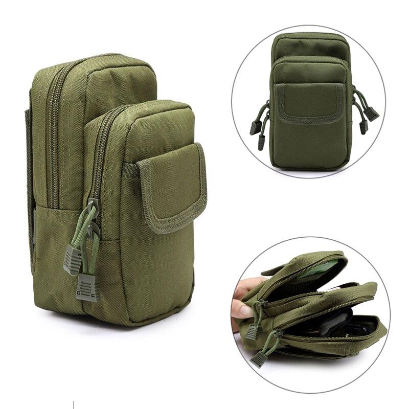 Bolsas militares tácticas al aire libre 600D Nylon EDC Molle cintura teléfono móvil utilitario artículos diversos bolsa equipo Fanny Packs