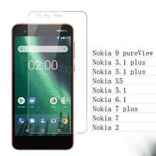 Screen Protector For Glass Nokia 2 7 5.1 3.1 5.1 plus 6.1 X5 Tempered Glass For Nokia 9 pureView Gla