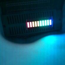 50pcs LED tableau 10 Segments barre de LED graphique Matriz 10 bargraph affichage barre-graphique rouge vert jaune bleu fixe multicolore 1B4G3Y2R