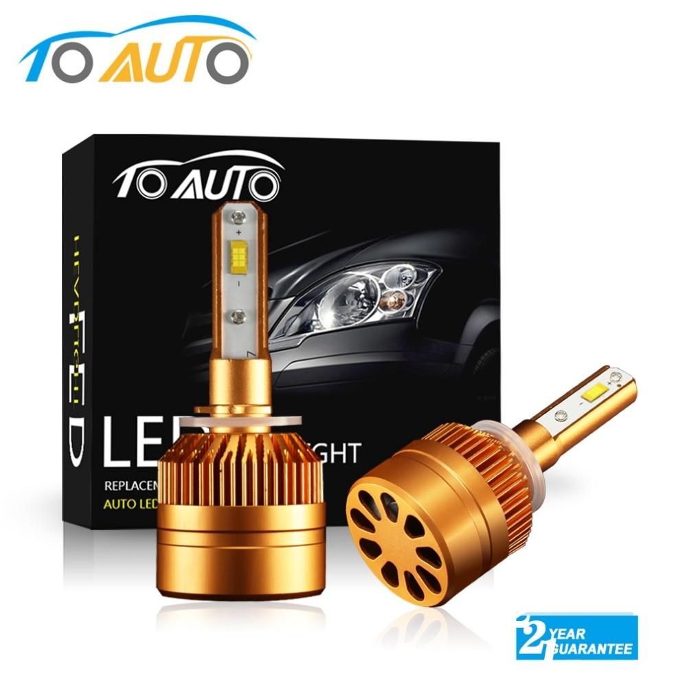 Faro LED H27 880 881 890 bombilla Led 6000K 8000LM faro LED automático h27w h27w1 h27w2 luces led para automóviles 12V 24V blanco