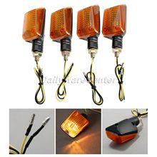 4X universel Mototcycel 12 V clignotant indicateur ampoule ambre indicateur clignotant Flash jaune lentille ATV vélo lampe partie moteur