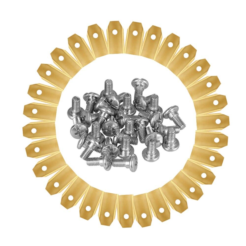 30 шт. лезвие газонокосилки с титановым покрытием с винтами для Husqvarna Automower 0,45 мм 0,6 мм 0,75 мм садовые обрезки лезвия резак