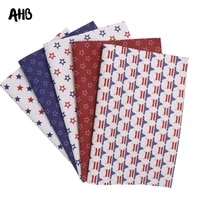 ahb faux leather sheets stars strip printed synthetic leather for diy hair accessories independence day handmade decor materials