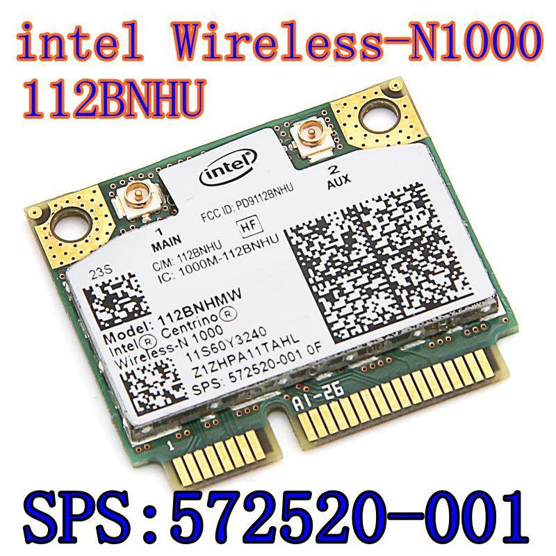 Nuevo Original de la tarjeta inalámbrica Intel Centrino Wireless-N 1000 de 112BNHMW 300Mbps 802.11b/g/n Mini PCI-E SPS 593530-001 intel N1000
