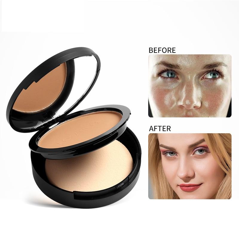 FOCALLURE Maquillaje facial prensado Maquiagem Batom polvo cosmético maquillaje paleta de polvo de piel Finsh