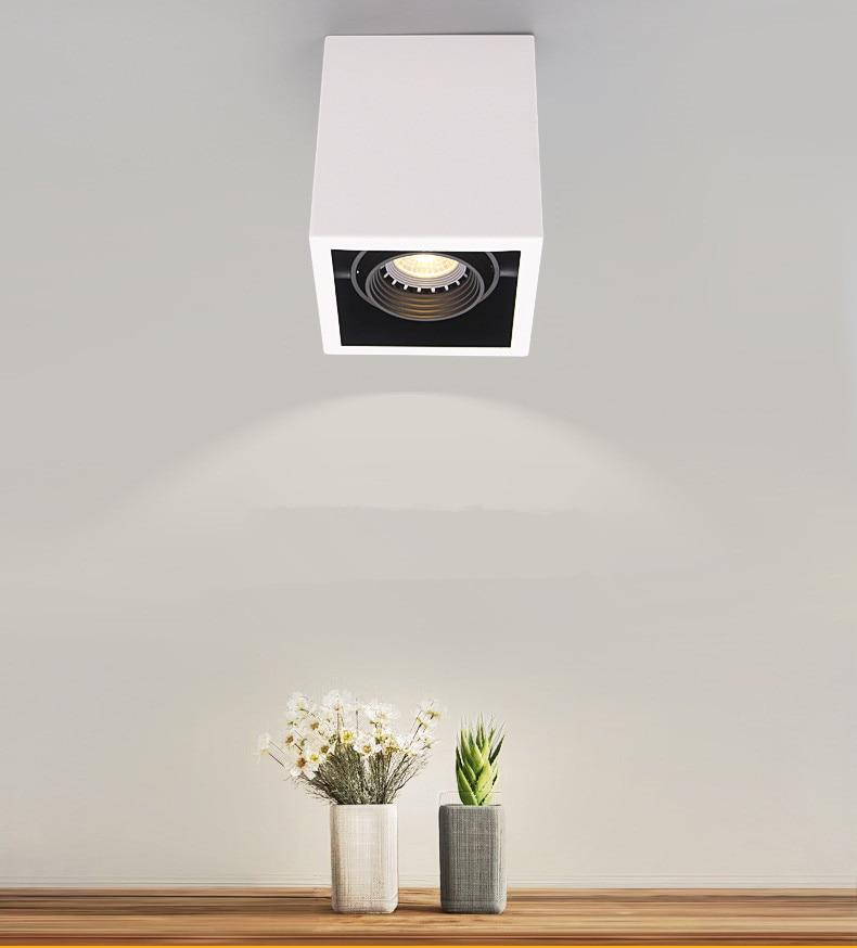 LED Ceiling Lights Single spot LED lamps Replaceable GU10 10W 15W led bulbs ceiling light Square lamp  Lighting for home
