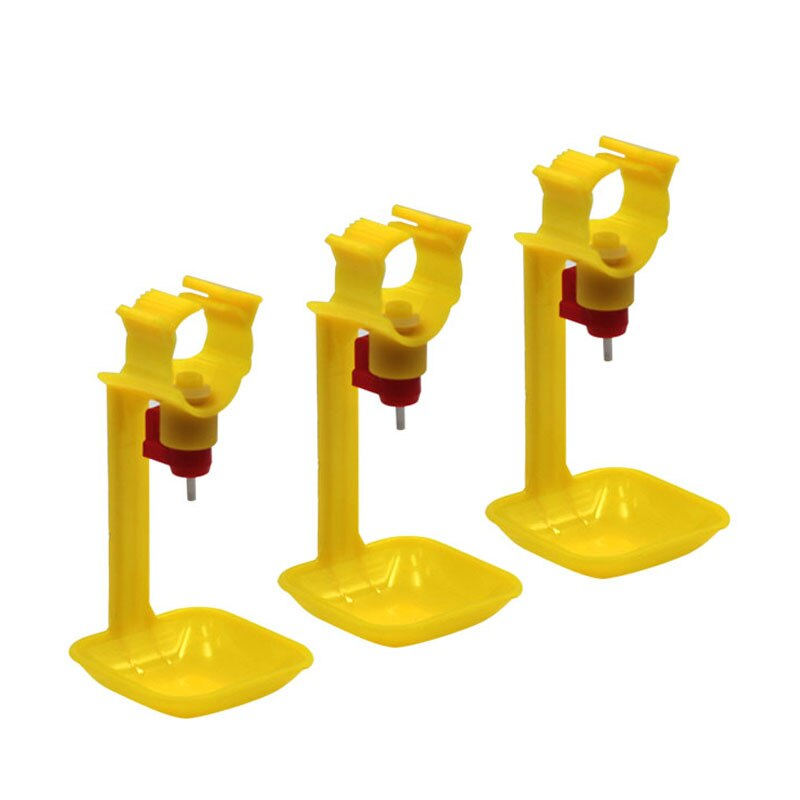 10 Pcs Chicken Drinker Nipple Cups Automatic integrated Hanging Cups With 25mm Pipes Ball Nipple Poultry Feeding Waterer Tools
