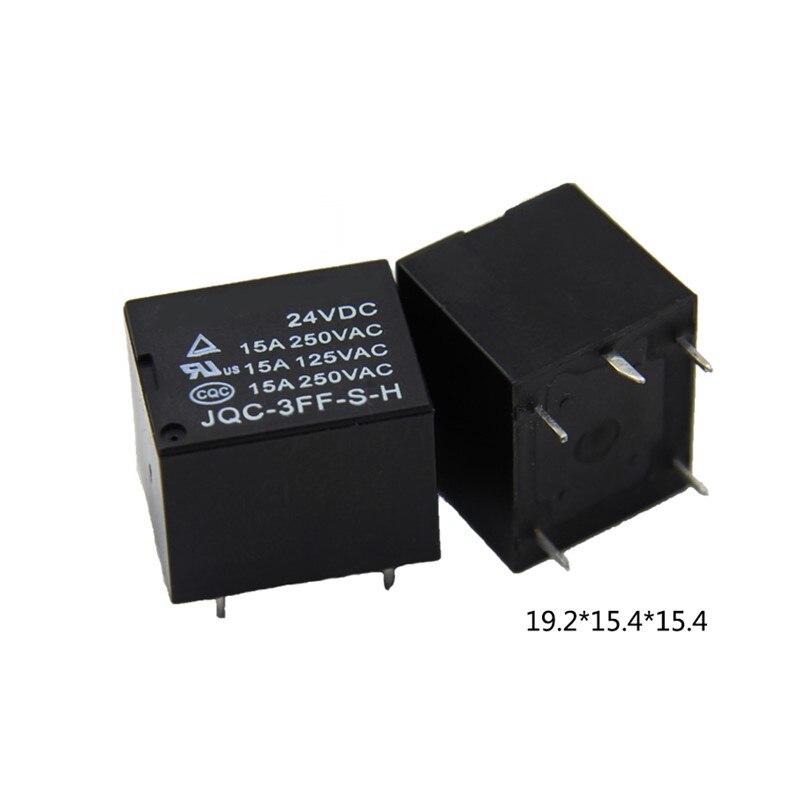5 pines/4 pines 15A normalmente abierto 5V 9V 12V 24 Vdc T73 miniatura relé electromagnético JQC-3FF