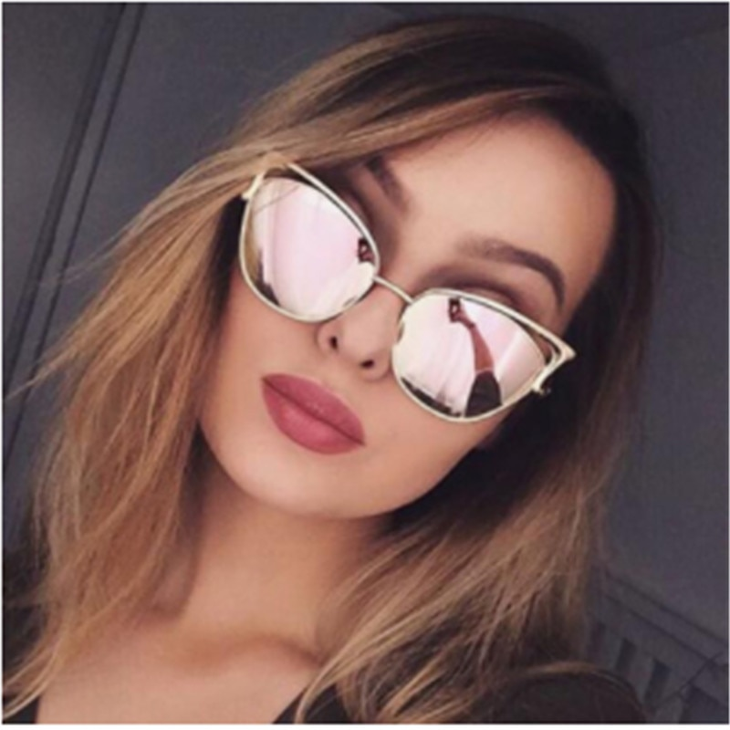 CURTAIN 2019 New Fashion Colour Luxury Cat Eye Sunglasses Elegant Retro Women Sun Glasses Alloy Frame UV400 oculos de sol  gafs