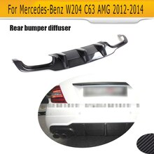 C Class Carbon fiber rear bumper Diffuser Lip for Mercedes Benz W204 C204 C63 AMG C300 Sport 2012 2013 2014 Non Hatchback