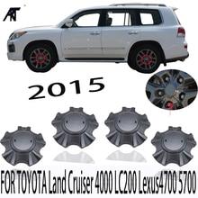 20 قطعة محور عجلات قبعات لتويوتا لاند كروزر 4000 LC200 لكزس 4700 5700 غطاء محور اللون: رمادي