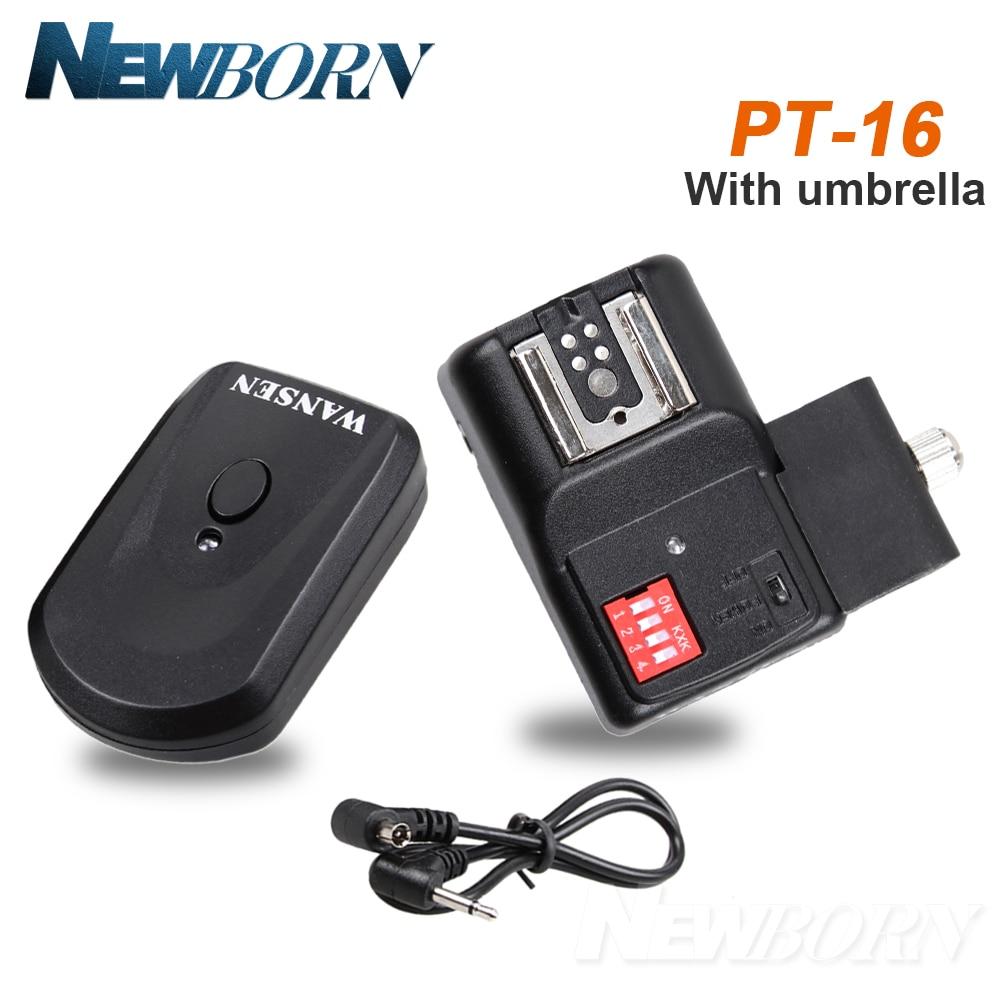 Wireless Flash Trigger + Empfänger PT-16NE 16 Kanäle mit Regenschirm Halter Für Yongnuo Canon Nikon Pentax außer für Sony Kamera