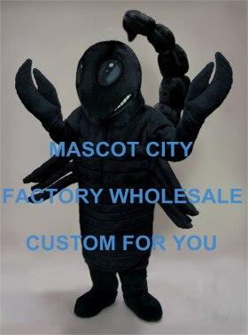 كبير أسود الصحراء العقرب زي التميمة الكبار حجم شخصية كرتونية Mascota الزي دعوى فستان بتصميم حالم SW678