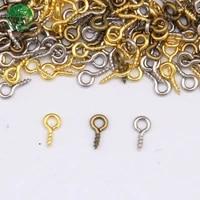 500pcs small tiny mini eye pins eyepins hooks eyelets screw threaded silver clasps hooks jewelry findings