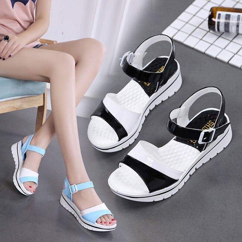 women platform summer sport sandals girls students beach running shoes ladies jogging training sandals sneakers running shoes