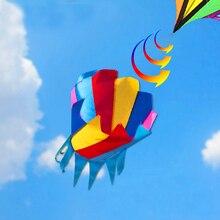 O envio gratuito de alta qualidade 2 pçs/lote pipa gigante windsock arco-íris pipa voando ao ar livre brinquedos tempo palhetas 3d kite butterfly