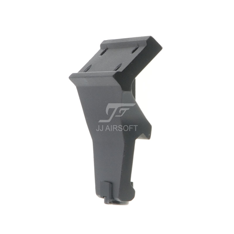 arisaka offset optic mount for red dot sights aimpoint micro t1 t2 h1 h2 trijicon rmr sro sig romeo 5 holosun hs403 hs503 hs515 JJ Airsoft KAC Style 45 degree Offset Mount for T1 / T-1 / T2 / T-2 / TARGET TR02 Red Dot (Black/Tan)
