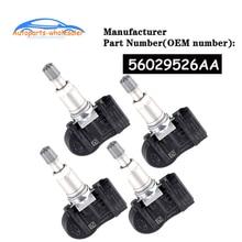 4 PCS/LOT 56029526AA For Chrysler Jeep Dodge TPMS Tire Pressure Monitoring Sensor 315Mhz car accesso