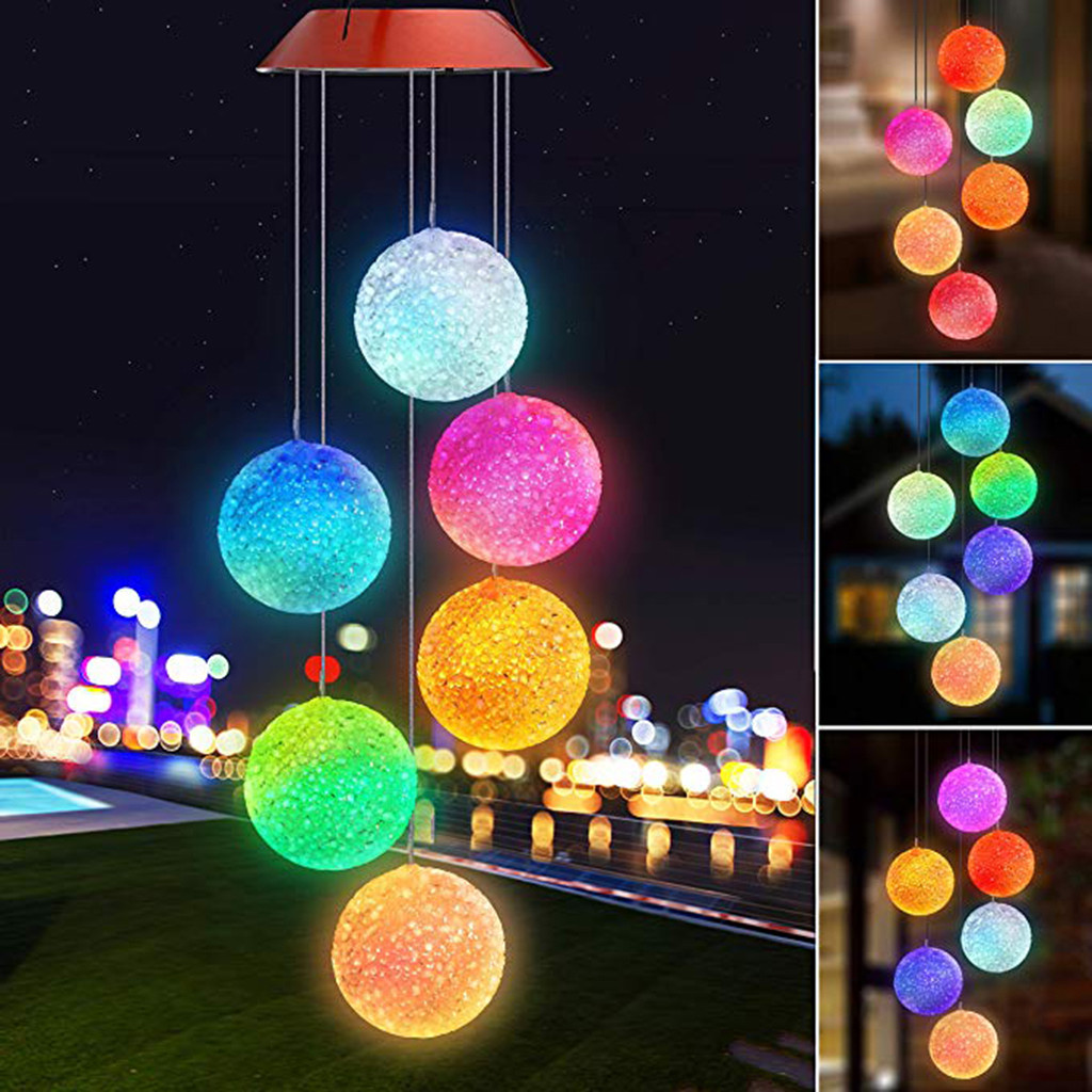 Светодиодная лампа на солнечных батареях с бабочками и колокольчиками для дома и сада, Подвесная лампа, декор для улицы, Солнечная бабочка, колокольчик, солнечная энергия